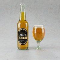 3D craft beer bottle model