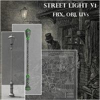 old style street light 3D