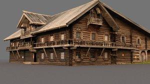 russian wooden kizhi island 3D