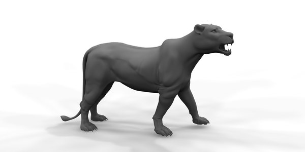 female lion 3D model