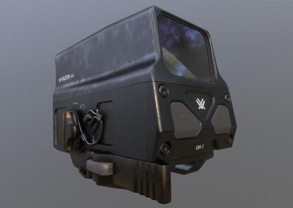 razor uh-1 weapon sight 3D model