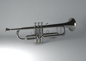 3D trumpet horn