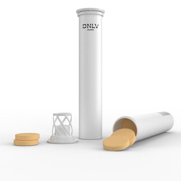 3D tablet tube model