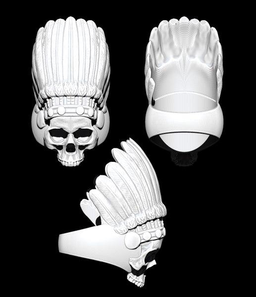 Chief skull ring