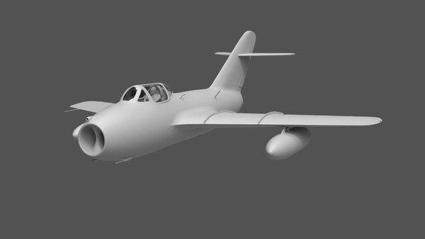 mig-15 fighter jet 3D model