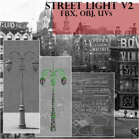 3D old style street light