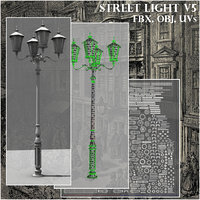 old style street light model