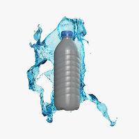 3D realistic liquid splash water