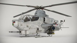 bell ah-1z viper attack helicopter 3D