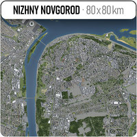 3D nizhny novgorod surrounding - model