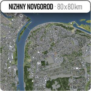 3D nizhny novgorod surrounding - model