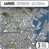 aarhus surrounding - 3D model