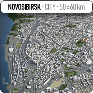 3D novosibirsk surrounding - model