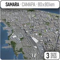 3D model samara surrounding -