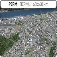 3D city perm surrounding -