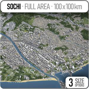 sochi surrounding - model
