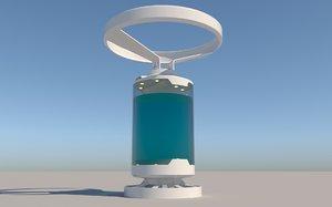 3D aquarium sci-fi model