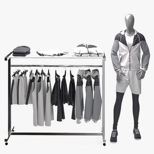 male jacket shorts shirts model