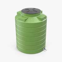 3D model big plastic water storage