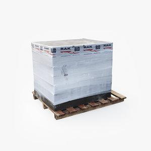concrete blocks 3D model