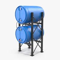 Round Plastic Double Barrel Water Storage