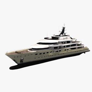details comes sun yacht 3D model