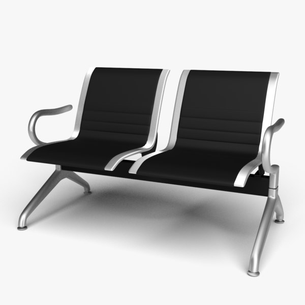 3D model 2 leather seat reception