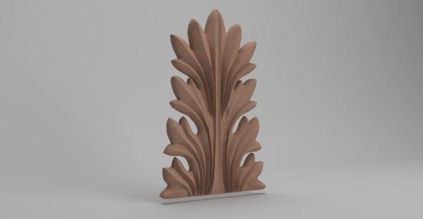 acanthus decoration architecture leaf model