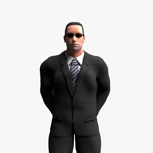 rigged bodyguard animation 3D model