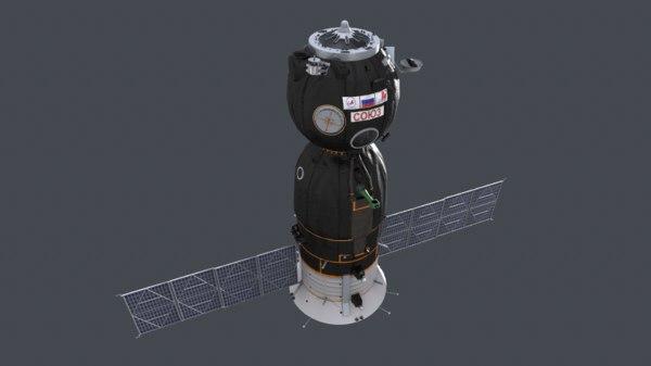 3D spaceship soyuz model