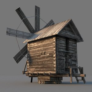 3D wooden windmill