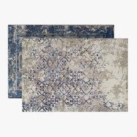 Antigua Fade Patterned and Lavita Antique Style Rugs Set