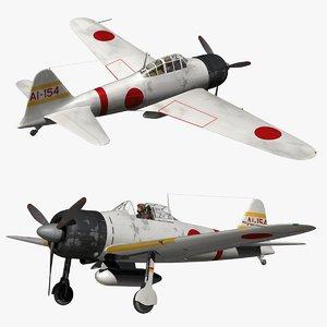 mitsubishi a6m zero 3D model