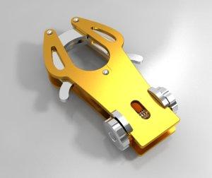carabiner keychain model