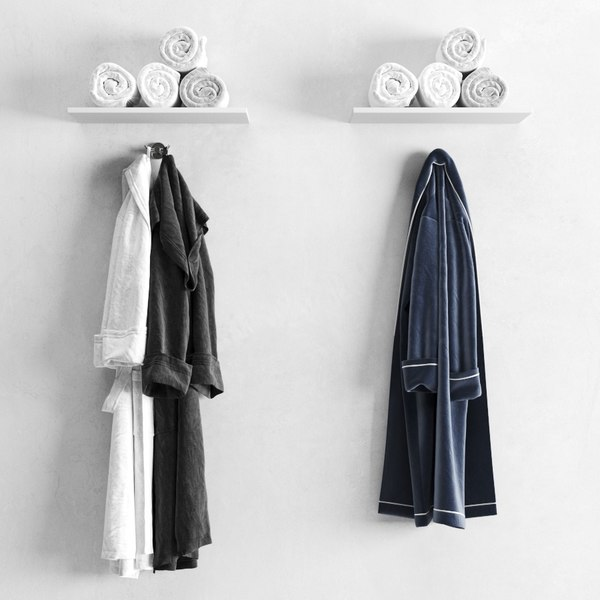 bathrobes towels 3D