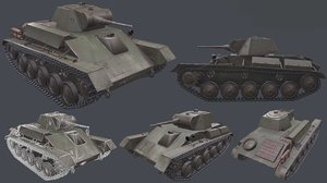 3D ussr tank t-70 model