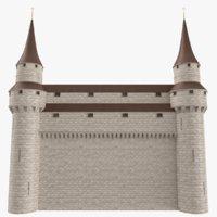 Castle Wall 04 3D Model