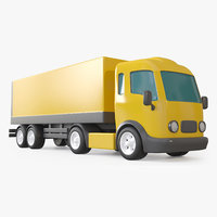 3D cartoon toy trailer truck model