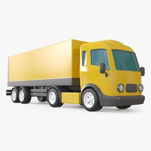 3D cartoon toy trailer truck model