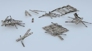 3D wooden debris model