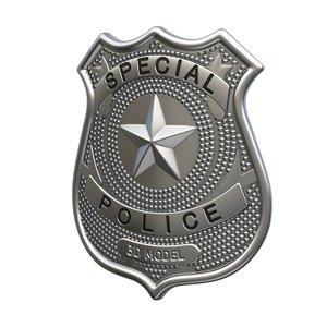 police badge 3D