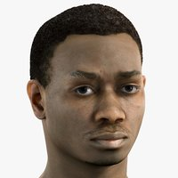 3D realistic 20s male head