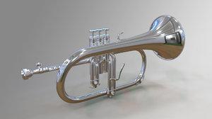 flugelhorn modelled 3D model