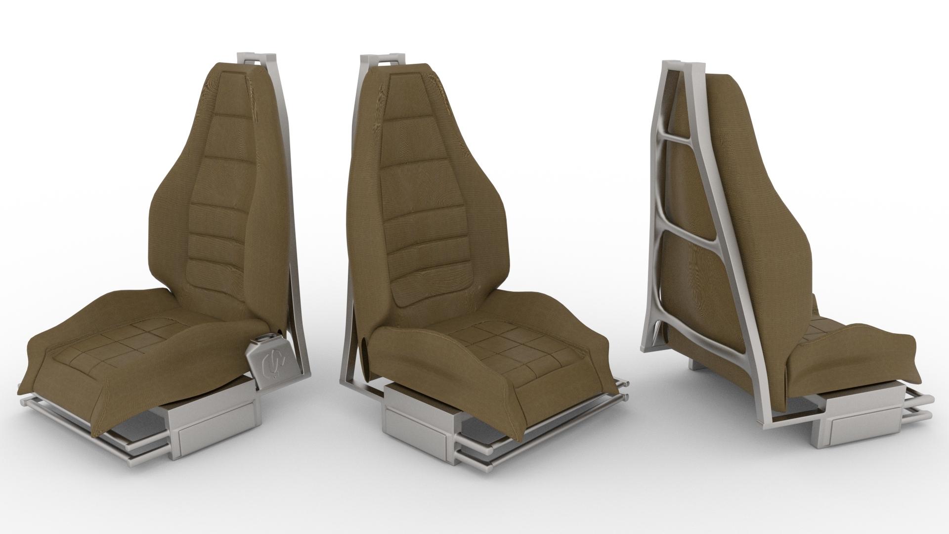 car chair 3D model