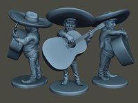 3D donald trump mariachi big