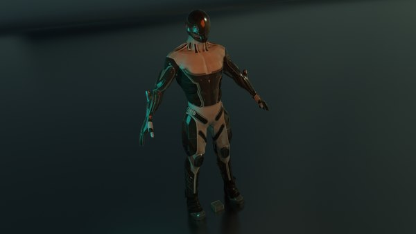 soldier character 3D model