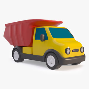 cartoon truck mining dump 3D model