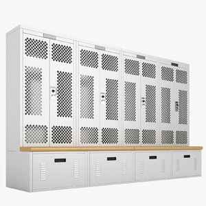 3D locker storage model