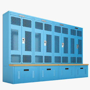 locker storage 3D model