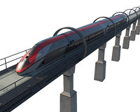Concept Levitation High Speed Train